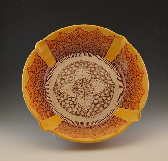 Sunflower Bowl, 14 in Diameter